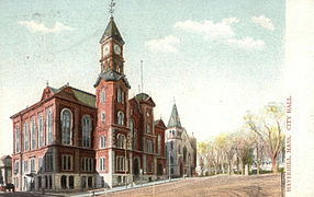 City hall Haverhill Massachusetts postcard