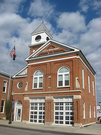 National Register of Historic Places listings in Dearborn County, Indiana - Image: City hall in Aurora, Indiana