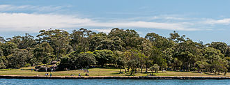 Woolwich, New South Wales - Image: Clarks Point Reserve, Woolwich, New South Wales