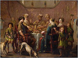 Claude Vignon - Banquet scene