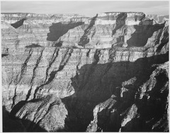 "Closer view of cliff formation, ""Grand Canyon from North Rim, 1941,"" Arizona., 1941 - NARA - 519883.tif"