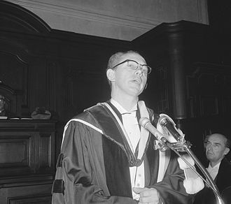Clyde Summers - Summers receiving an honorary doctorate at the Catholic University of Leuven in 1966