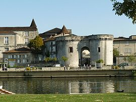 The Saint-Jacques gate in Cognac