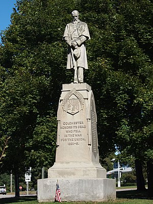 George Edwin Bissell - Image: Colchester Village HD Civil War monument