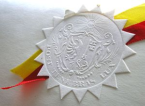 Paper embossing - Embossed paper seal
