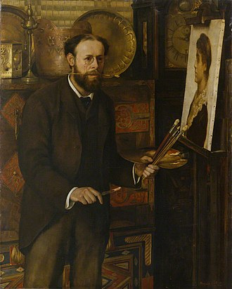 John Collier (painter) - Image: Collier, Marion Portrait of John Collier circa 1882 1883
