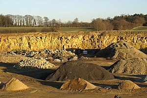 Collyweston stone slate - Collyweston quarry at Duddington