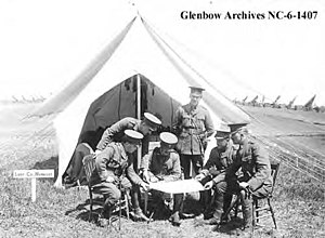 51st Battalion (Edmonton), CEF - Lt-Col Harwood and staff of the battalion