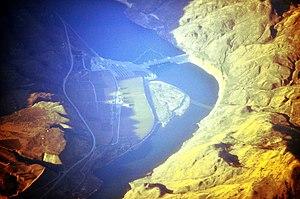 Wells Dam - Aerial view