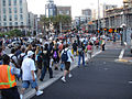 Comic-Con 2006 - crowds stream out of the convention center, back to the Gaslamp District (4798576674).jpg