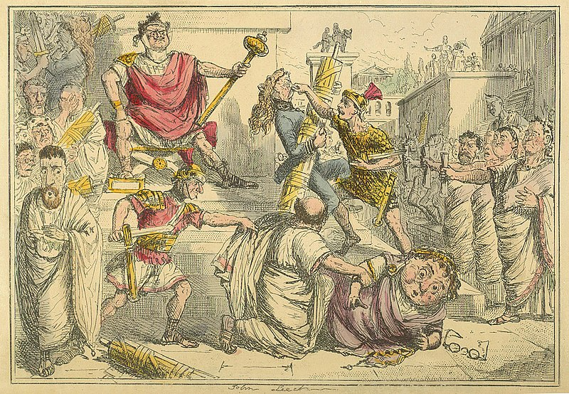 File:Comic History of Rome Table 02 Tarquinius Superbus makes himself King.jpg
