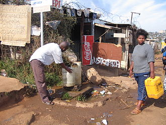 Water security - Communal tap (standpost) for drinking water in Soweto, Johannesburg, South Africa