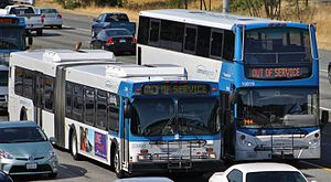 Community Transit - Image: Community Transit commuter buses approaching Seattle