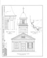Congregational Church, State Route 45 and 88, Bristolville, Trumbull County, OH HABS OHIO,78-BRISVI,2- (sheet 2 of 3).png