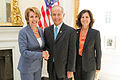 Congresswoman Pelosi and Dr. Leslie Wong, SFSU President (8281368211).jpg