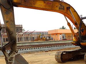 Jaffna railway station - Jaffna Station during reconstruction