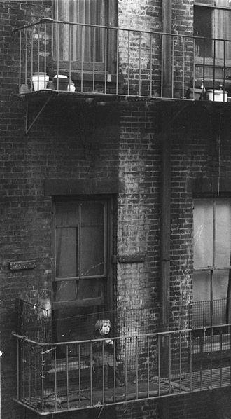 Consuelo Kanaga - Image: Consuelo Kanaga (American, 1894 1978). Untitled (Tenement, Child on Fire Escape, New York), mid late 1930s