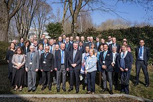 Consular corps - Members of the Consular Corps in Bavaria at the European Southern Observatory Headquarters.