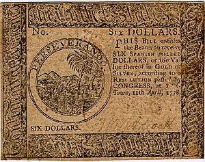 Continental Currency $6 banknote obverse (April 11, 1778).jpg