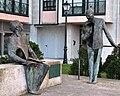Conxunto de Buciños en Bouzas, José Saramago e Álvaro Cunqueiro.jpg