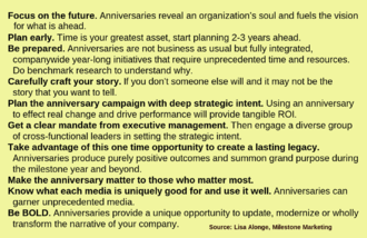 Corporate anniversary - Image: Corporate Anniversary Meeting Strategies Text Guidelines