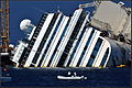 Costa Concordia wreck (front view) - Isola del Giglio - Tuscan Archipelago, Italy - 18 Aug. 2013.jpg