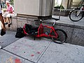 Courier's bike, SW corner University and Elm (2016-08-13) - panoramio.jpg