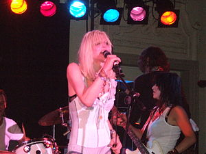 Courtney Love on stage.