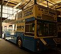 "Coventry Transport Museum bus ""Peeping Tom"" (PDU 125M) 1973 Daimler Fleetline East Lancs, Coventry City FC livery, 2 April 2011.jpg"