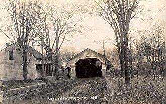 Norridgewock, Maine - Image: Covered Bridge, Norridgewock, ME