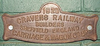 Cravens - Image: Cravens Railway Builders Carriage & Wagon Co