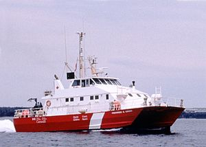 Frederick G. Creed - Canadian Coast Guard vessel Frederick G. Creed, using SWATH design pioneered by Creed.