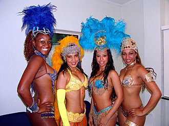 Samba (Brazilian dance) - Samba dancers at Rio Carnival in 2008.