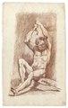 Croquisteckning föreställande naken man, 1760-tal - Skoklosters slott - 99209.tif