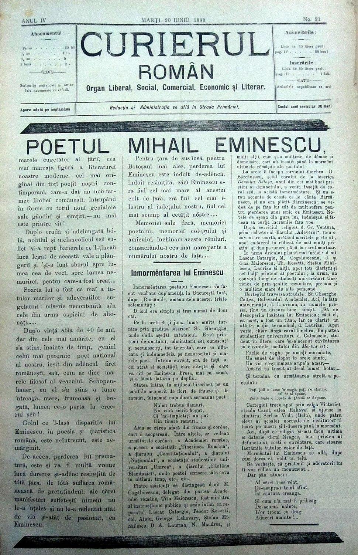 Curierul Roman - 20 iunie 1889