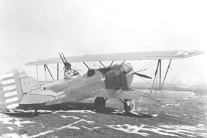 Curtiss Falcon - Curtiss A-3 Falcon. This was the first A-3 aircraft, later converted to O-1B.