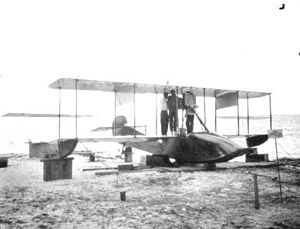 Lewis H. Brereton - Curtiss F float plane of the type flown by Brereton in fatal crash of April 8, 1913.