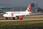 "Czech Airlines Airbus A319-112 OK-PET ""90 years"" sticker (20949574694).jpg"