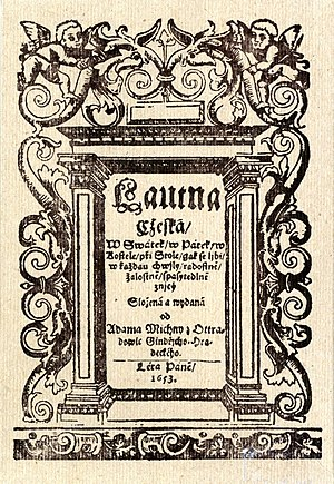 Czech Lute - Czech Lute, front cover of the first edition (1653)