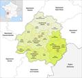 Département Dordogne Arrondissement Kantone 2017.png