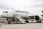 D-ALFA Lufthansa Cargo Boeing 777-FBT after arriving from Alamaty (UAAA) @ Frankfurt - Rhein-Main International (EDDF) 10.06.2015 (18922919306).jpg