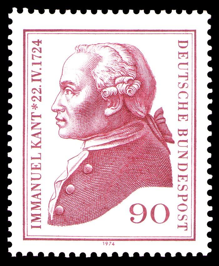 DBP - 250 Jahre Immanuel Kant - 90 Pfennig - 1974
