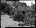 DETAIL VIEW OF HIGHWAY CULVERT OUTLET, LOOKING NORTHWEST - Zion-Mount Carmel Highway, Springdale, Washington County, UT HAER UTAH,27-SPDA.V,3-10.tif