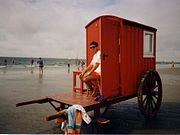 Lifeguard on duty, Borkum in the North Sea