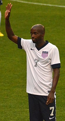 DaMarcus Beasley acknowledges supporters vs Belgium.jpg