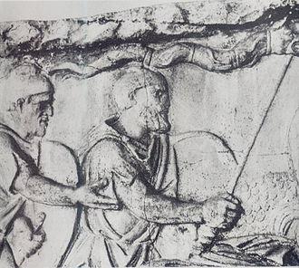 Dacian Draco -  The Dacians bearing the draco on Trajan's Column