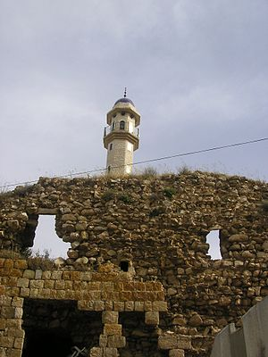 Deir Hanna - The remains of the Zaydani mosque and fortress of Deir Hanna, built by Sa'd el-Omar, the brother of Zahir al-Umar