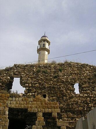 Deir Hanna - The remains of the Zaydani mosque and fortress of Deir Hanna, built by Sa'd el-Omar, the brother of Zahir al-Umar