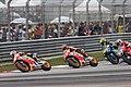Dani Pedrosa, Marc Márquez, Valentino Rossi and Andrea Dovizioso 2015 Sepang.jpeg