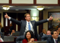 Daniel Davis signals appproval to his colleagues as he offers thumbs up on the House.png